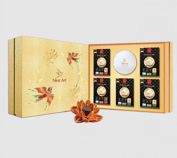 Hộp quà tặng sức khỏe Yến sào cao cấp Happybox Cát Khánh